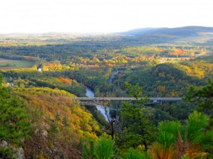 Views of the Wesfield River Gorge from Montgomery, MA