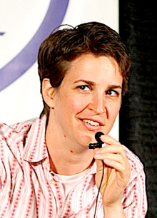 Rachel Maddow, West Cummington resident and TV star.