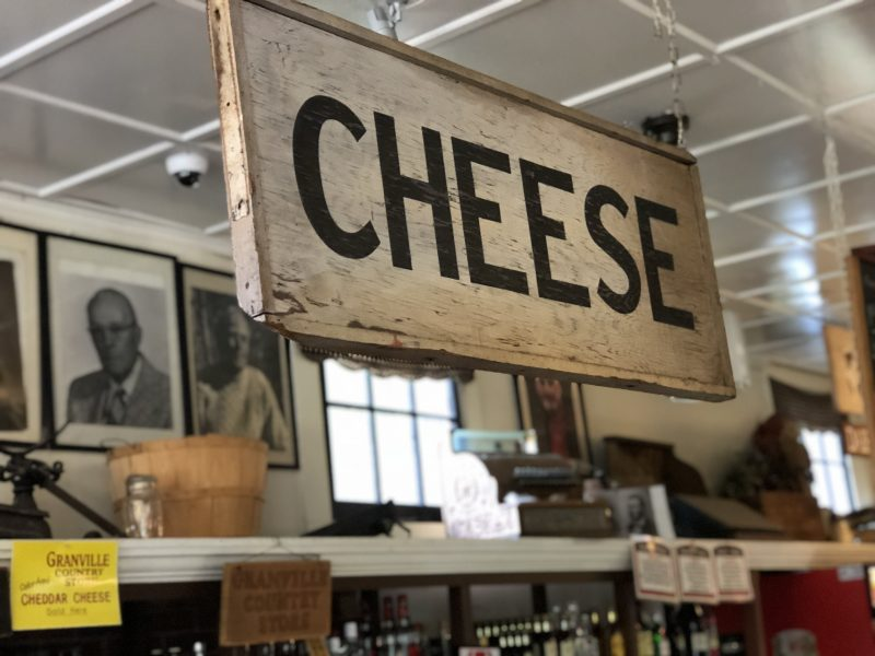 Granville Country Store is famous for its cheddar cheese.
