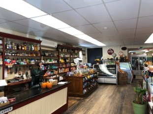 Inside the Blandford General Store and Cafe.