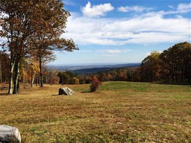 View from AMC's Noble View Outdoor Center in Russell, Mass.